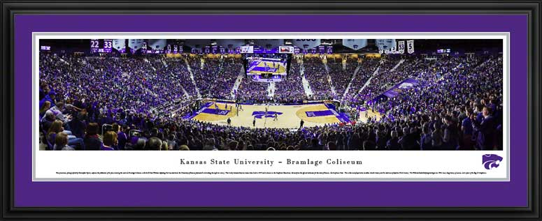 College - Kansas State Wildcats - Bramlage Coliseum - Framed Picture