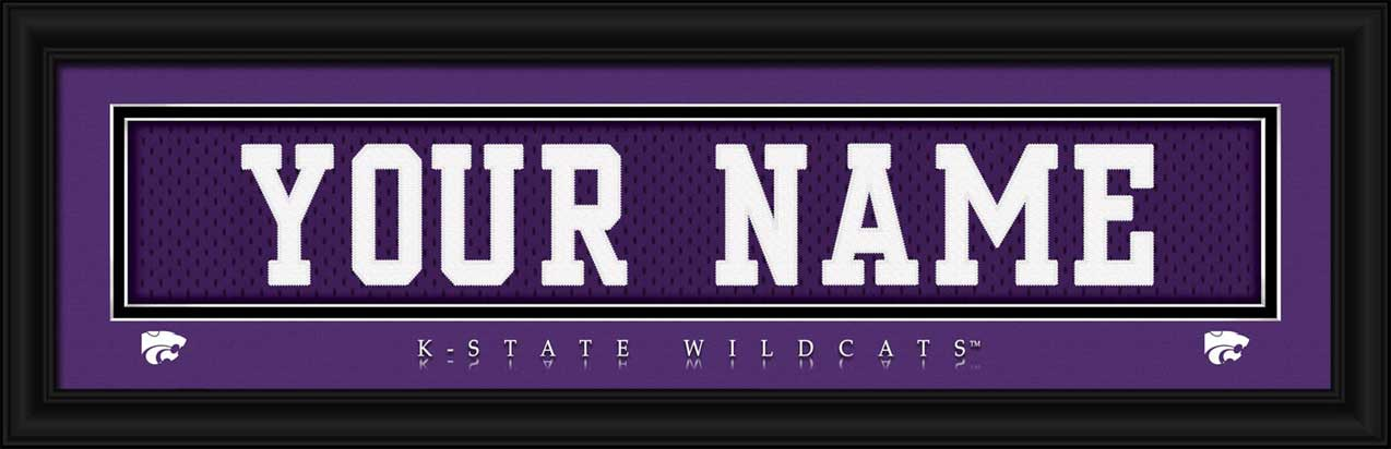 College - Kansas State Wildcats - Personalized Jersey Nameplate - Framed Picture