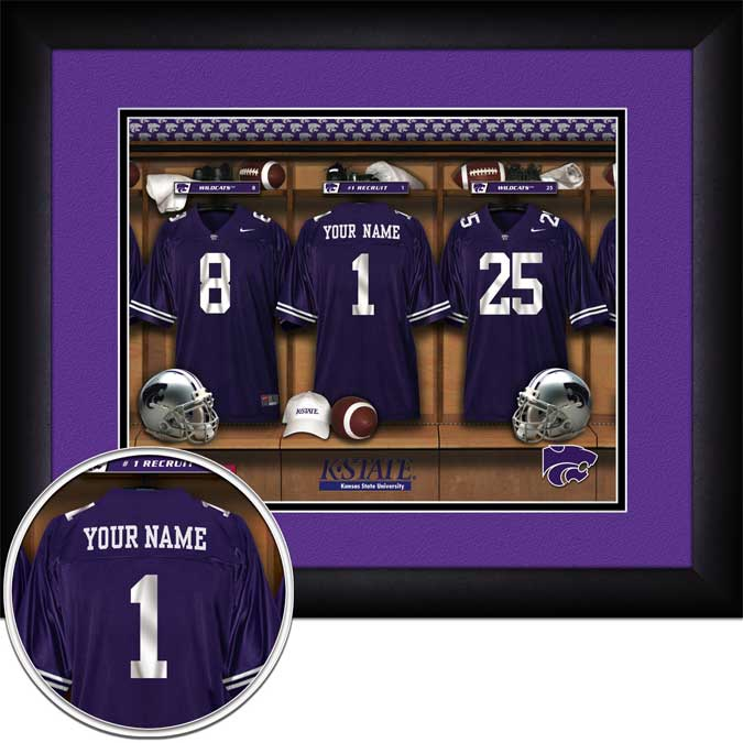 College - Kansas State Wildcats - Personalized Locker Room - Framed Picture