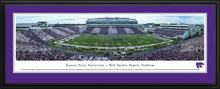 College - Kansas State Wildcats - Bill Snyder Family Stadium - Stripe Out - Framed Picture