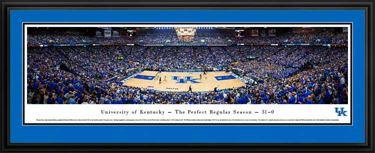 College - Kentucky Wildcats - Rupp Arena - Perfect Regular Season - Framed Picture