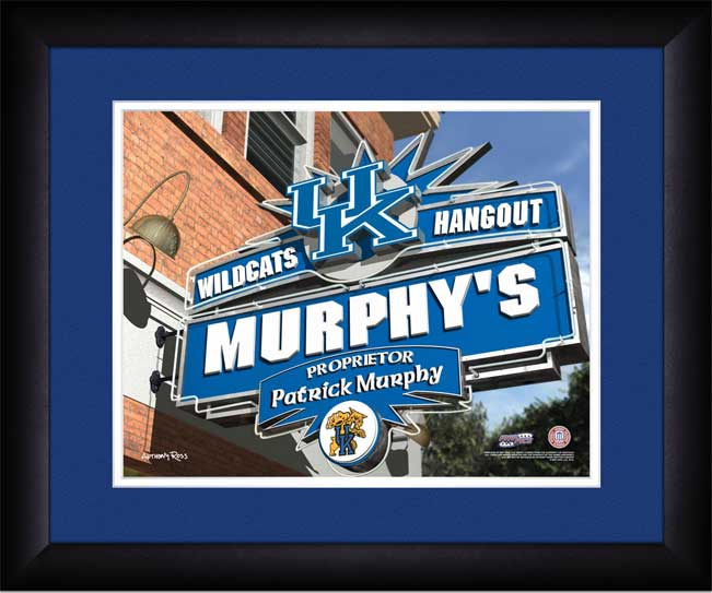 College - Kentucky Wildcats - Personalized Hangout Sign - Framed Picture