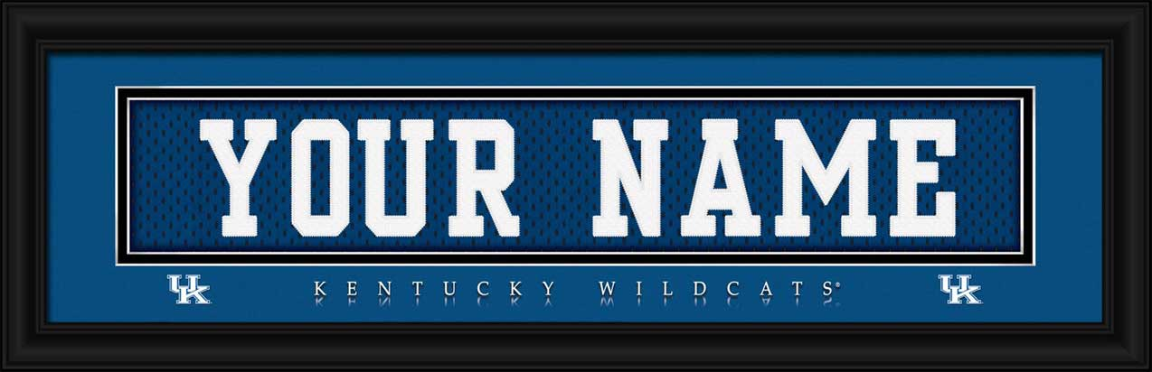 College - Kentucky Wildcats - Personalized Jersey Nameplate - Framed Picture