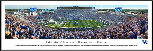 College - Kentucky Wildcats - Commonwealth Stadium - Framed Picture