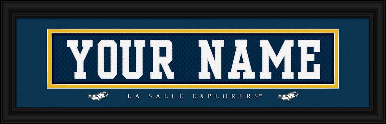 College - La Salle Explorers - Personalized Jersey Nameplate - Framed Picture