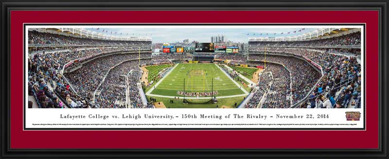 College - Lafayette Leopards - 150th Meeting of the Rivalry Vs Lehigh - Framed Picture