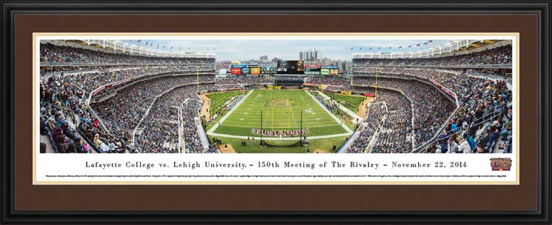 College - Lehigh Mountain Hawks - 150th Meeting of the Rivalry Vs Lafayette - Framed Picture