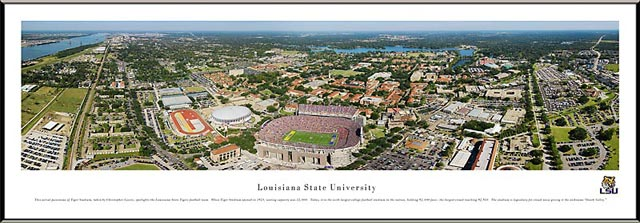 College - Louisiana State Tigers - Tiger Stadium - Death Valley - Framed Picture