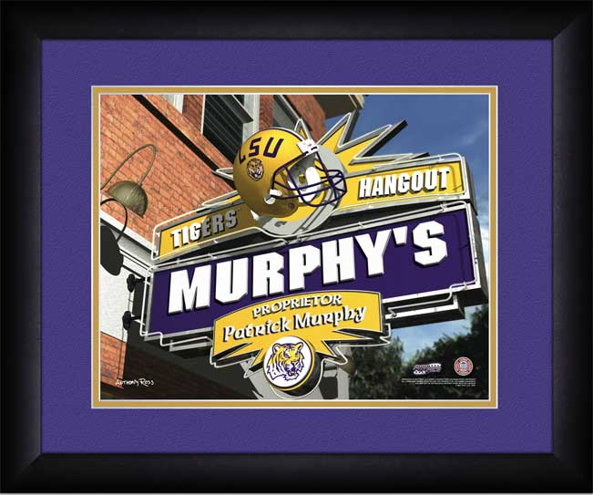 College - Louisiana State Tigers - Personalized Hangout Sign - Framed Picture