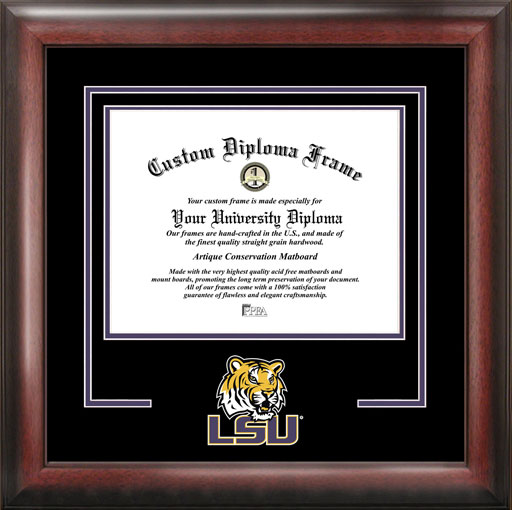 College - Louisiana State University Tigers - College Mascot - Spirit Mat Cutout - Diploma Frame
