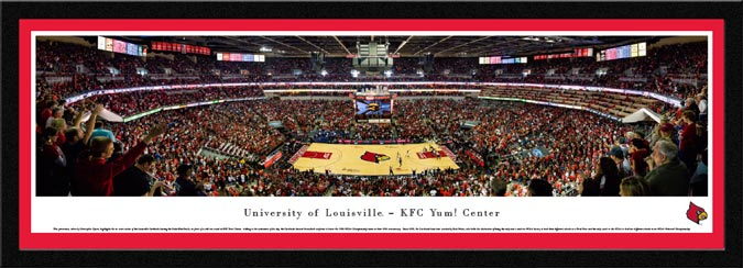 College - Louisville Cardinals - KFC Yum Center - Framed Picture