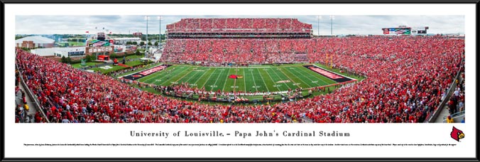 College - Louisville Cardinals - Papa Johns Cardinal Stadium - Framed Picture