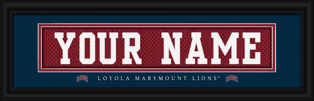 College - Loyola Marymount Lions - Personalized Jersey Nameplate - Framed Picture