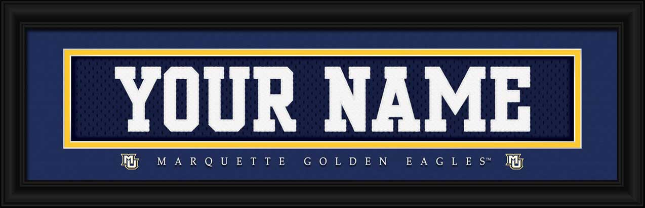 College - Marquette Golden Eagles - Personalized Jersey Nameplate - Framed Picture