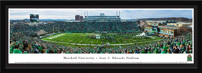 College - Marshall Thundering Herd - Joan C. Edwards Stadium 2014 - Framed Picture