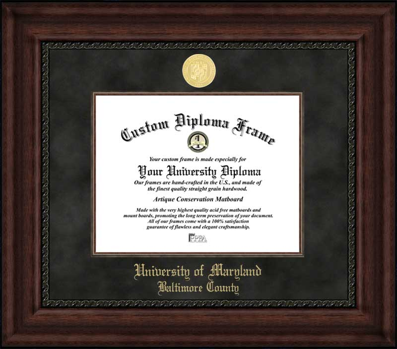 University of Maryland Baltimore County Diploma Frames & Certificate ...