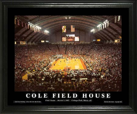 College - Maryland Terrapins - Cole Field House - Lg - Framed Picture