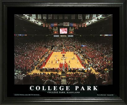 College - Maryland Terrapins - Comcast Center - Lg - Framed Picture