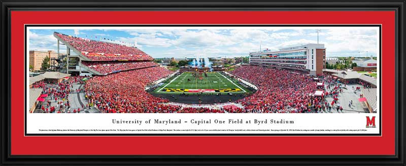 College - Maryland Terrapins - Capital One Field at Byrd Stadium - Framed Picture