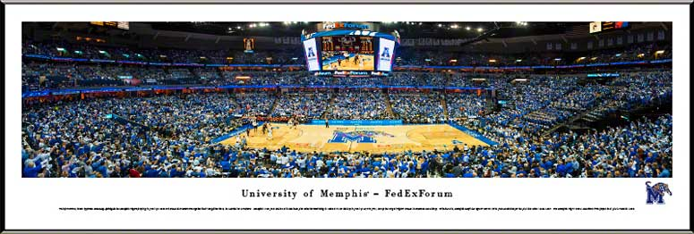 College - Memphis Tigers - FedExForum - Framed Picture