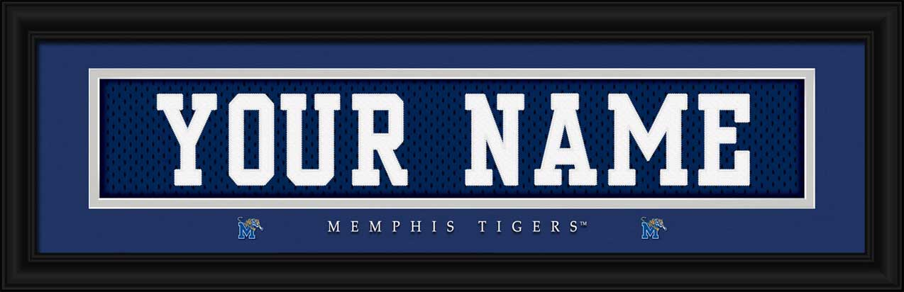 College - Memphis Tigers - Personalized Jersey Nameplate - Framed Picture