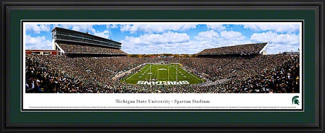 College - Michigan State Spartans - Spartan Stadium - End Zone - Framed Picture