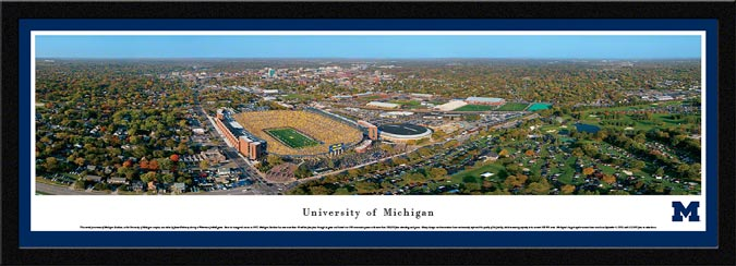 College - Michigan Wolverines - University of Michigan Campus - Framed Picture