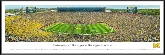 College - Michigan Wolverines - Michigan Stadium - The Big House - Framed Picture