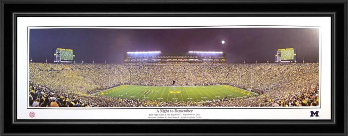 College - Michigan Wolverines - A Night to Remember - Framed Picture