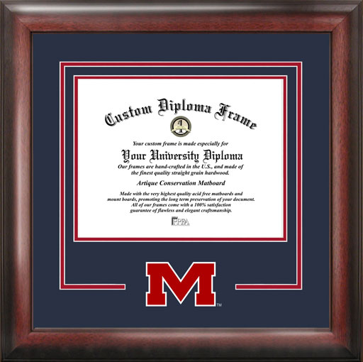 College - University of Mississippi Rebels - College Logo - Spirit Mat Cutout - Diploma Frame