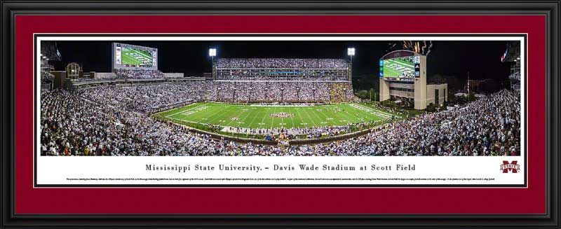 College - Mississippi State Bulldogs - Scott Field - 100th Anniversary - Framed Picture