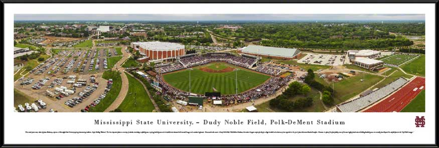 College - Mississippi State Bulldogs - Dudy Noble Field - Polk-DeMent Stadium - Framed Picture