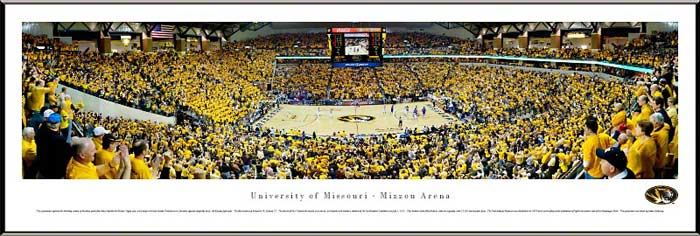 College - Missouri Tigers - Mizzou Arena - Framed Picture
