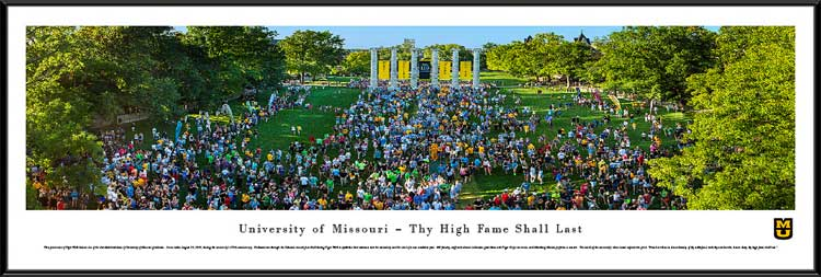 College - Missouri Tigers - Tiger Walk - 175th Anniversary - Framed Picture