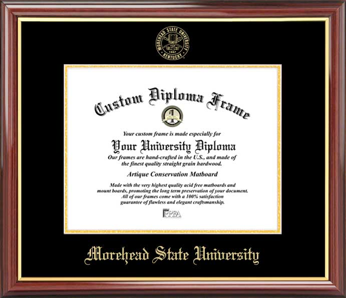College - Morehead State University Eagles - Embossed Seal - Mahogany Gold Trim - Diploma Frame