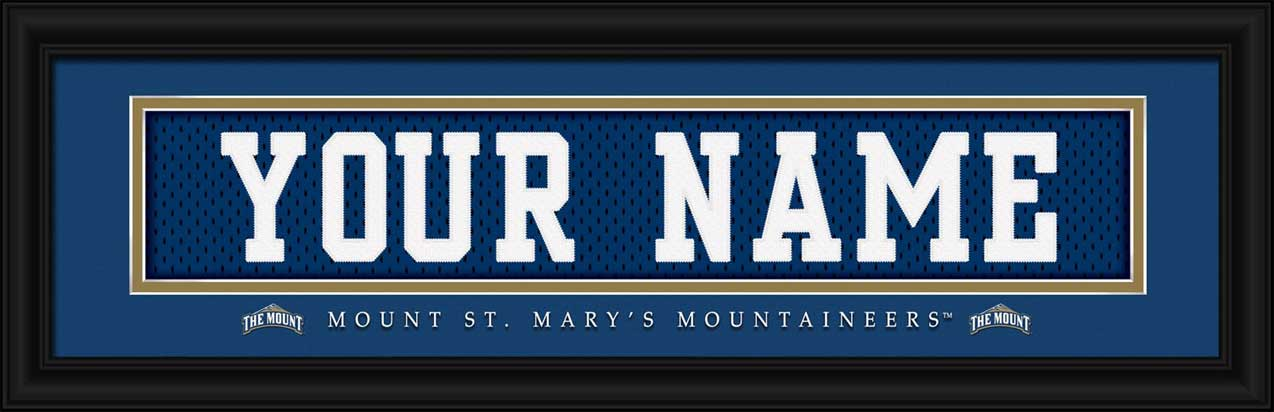 College - Mount St. Mary's Mountaineers - Personalized Jersey Nameplate - Framed Picture