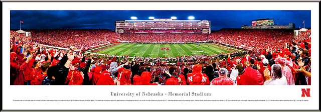 College - Nebraska Cornhuskers - Memorial Stadium 2011 - Framed Picture