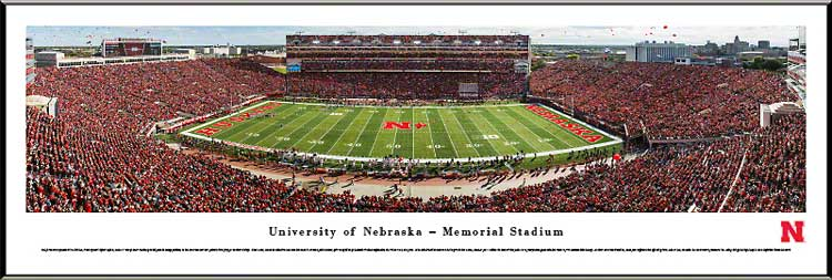 College - Nebraska Cornhuskers - Memorial Stadium 2013 - Sea of Red - Framed Picture