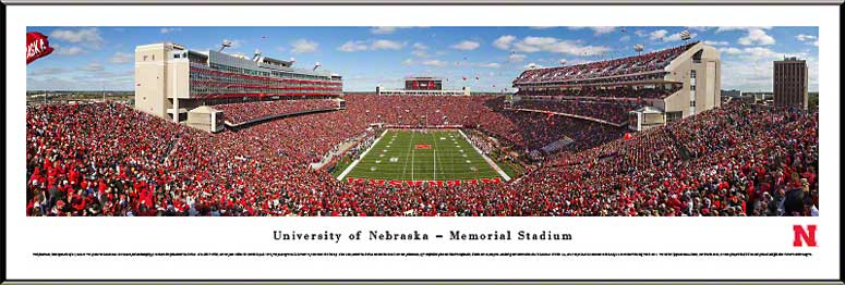 College - Nebraska Cornhuskers - Memorial Stadium 2013 - End Zone - Framed Picture