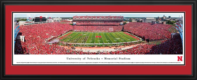 College - Nebraska Cornhuskers - Memorial Stadium 2016 - Sea of Red - Framed Picture