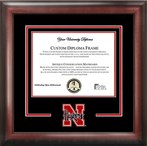 College - University of Nebraska Cornhuskers - College Logo - Spirit Mat Cutout - Diploma Frame
