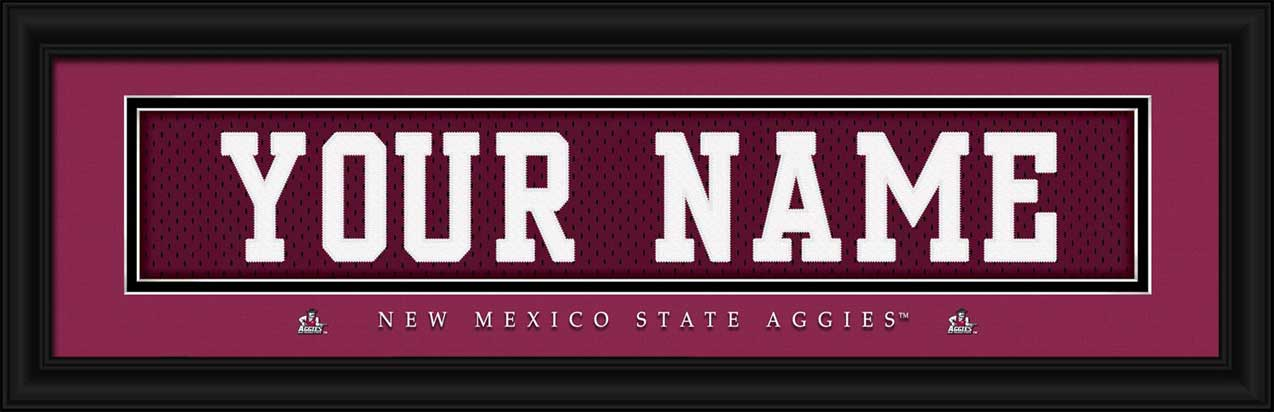 College - New Mexico State Aggies - Personalized Jersey Nameplate - Framed Picture