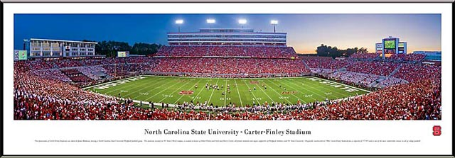 College - North Carolina State Wolfpack - Carter-Finley Stadium - Framed Picture