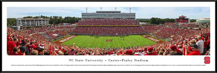 College - North Carolina State Wolfpack - Carter-Finley Stadium 2014 - Framed Picture