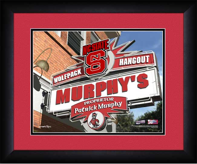 College - North Carolina State Wolfpack - Personalized Hangout Sign - Framed Picture