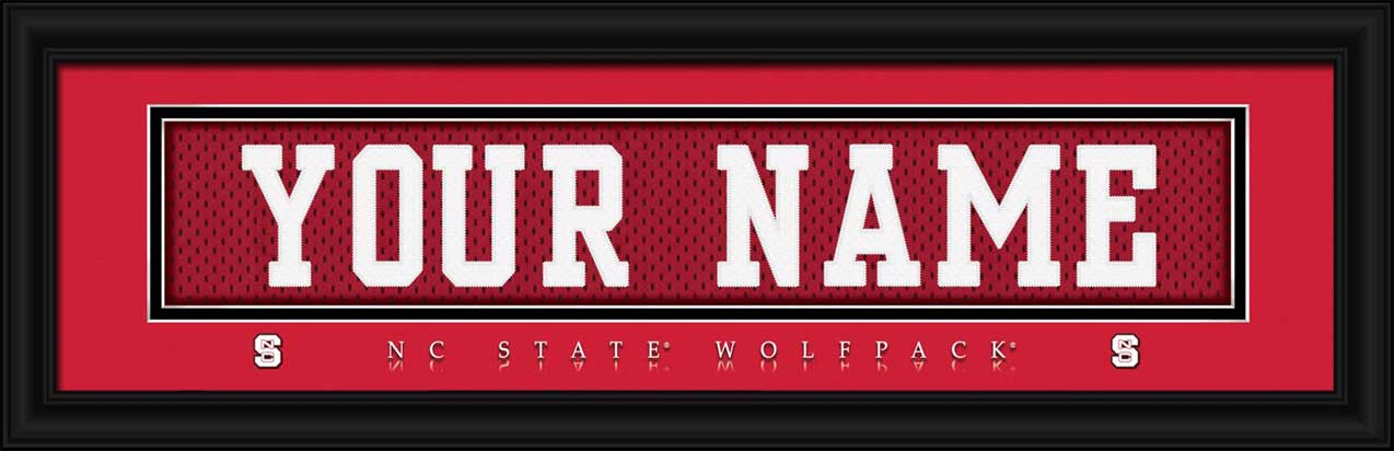 College - North Carolina State Wolfpack - Personalized Jersey Nameplate - Framed Picture