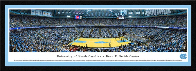 College - North Carolina Tar Heels - Dean E Smith Center - Dean Dome - Framed Picture