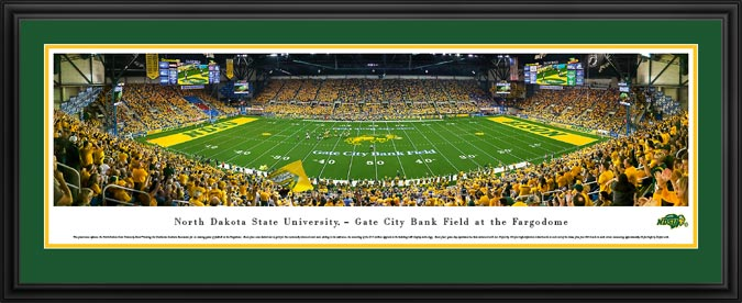College - North Dakota State Bisons - Fargodome - Framed Picture