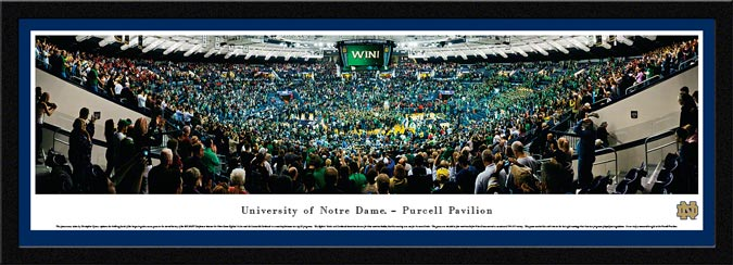 College - Notre Dame Fighting Irish - Purcell Pavilion - Five Overtimes - Framed Picture