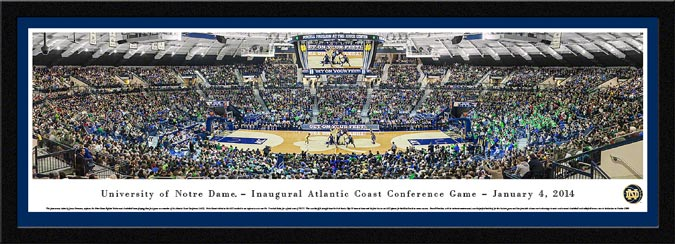 College - Notre Dame Fighting Irish - Purcell Pavilion - ACC Game - Framed Picture